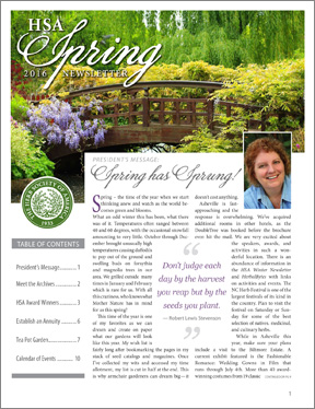 Vol20_SpringNewsletter_Cvr