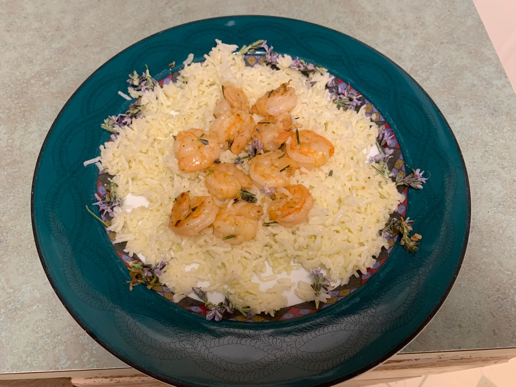 Shrimp with rosemary