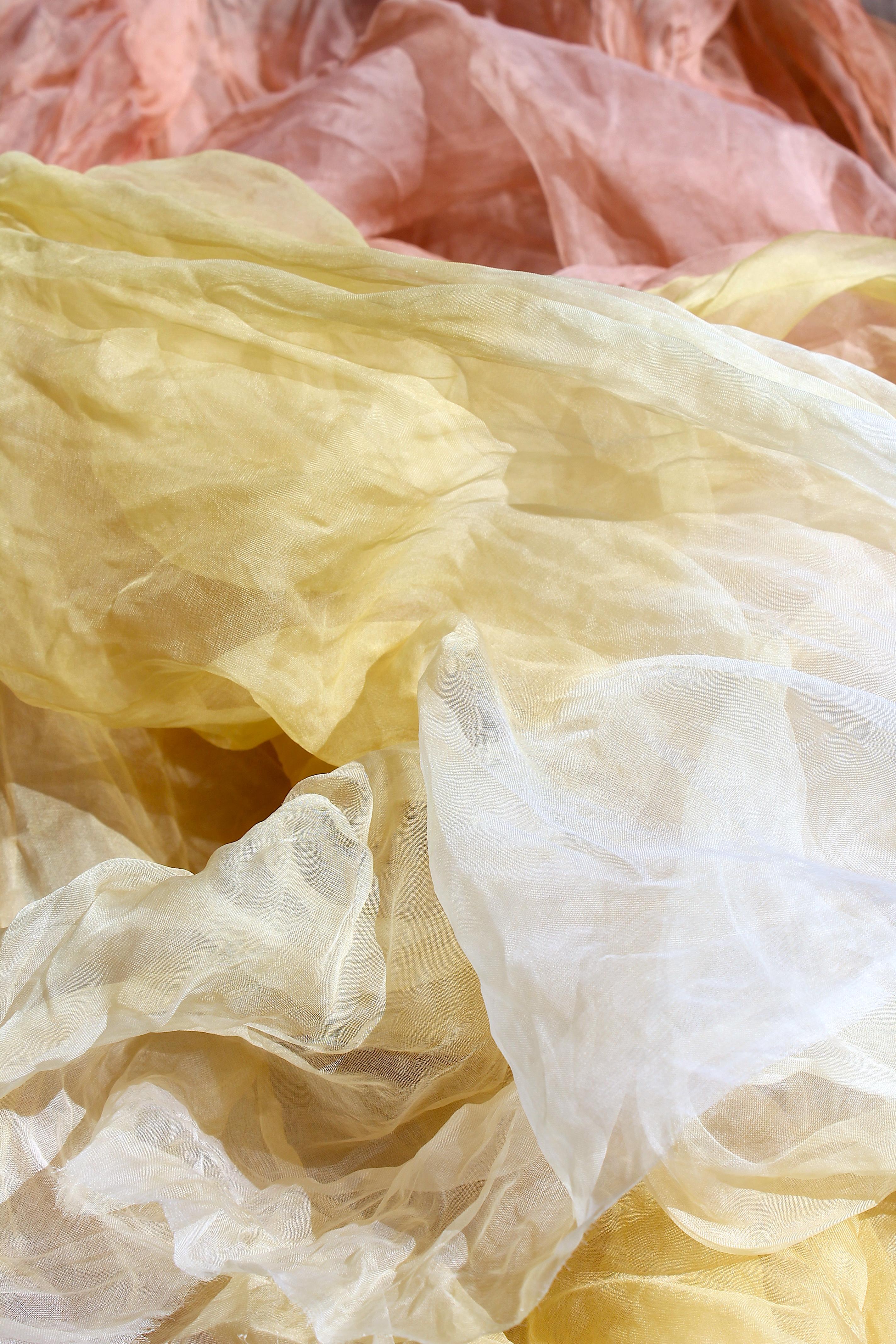 Aloe dyed fabric