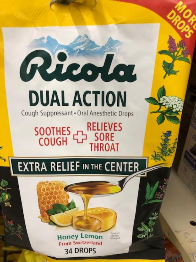 Ricola throat drops