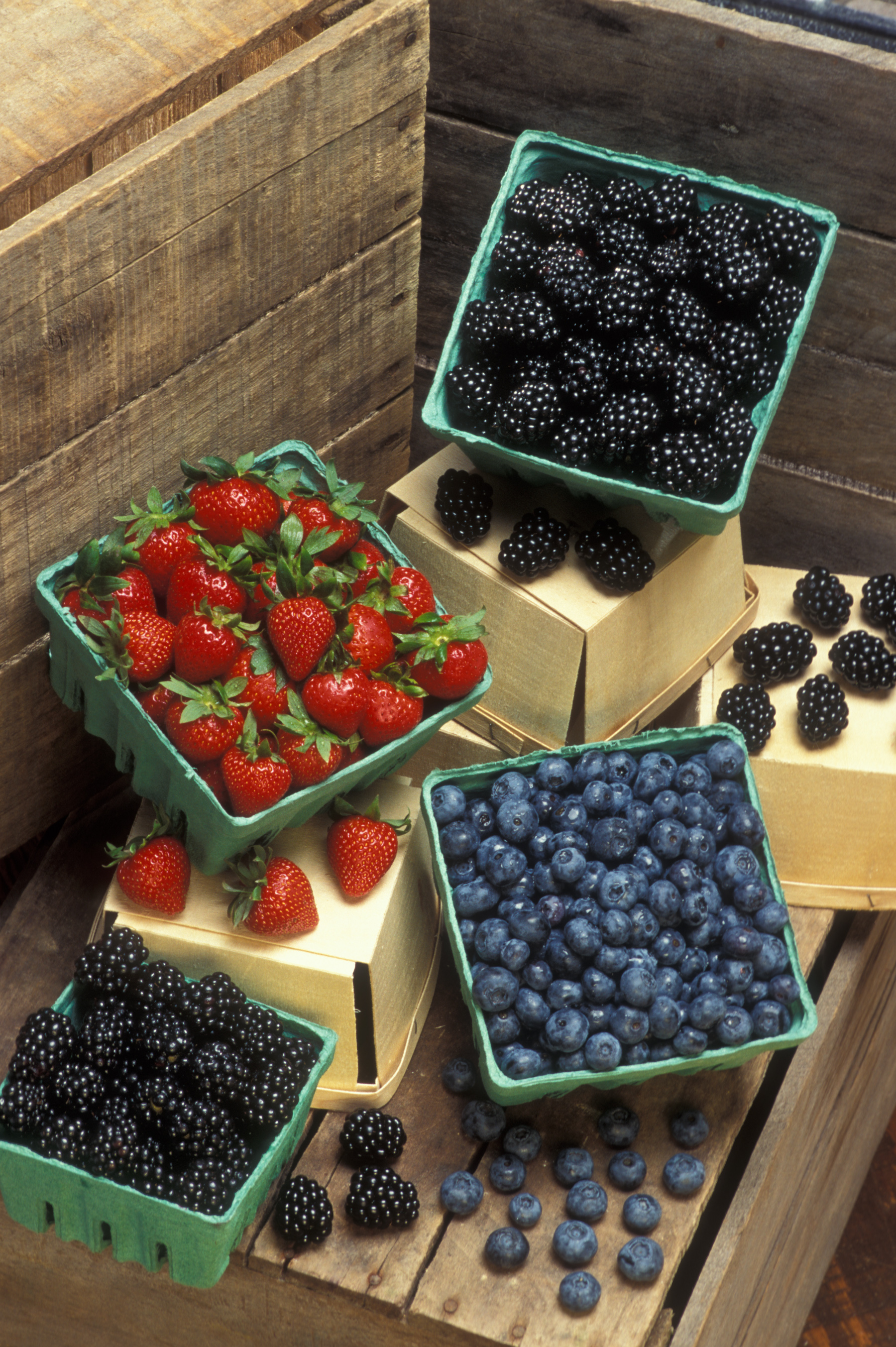 picture of blackberries, blueberries, and strawberries