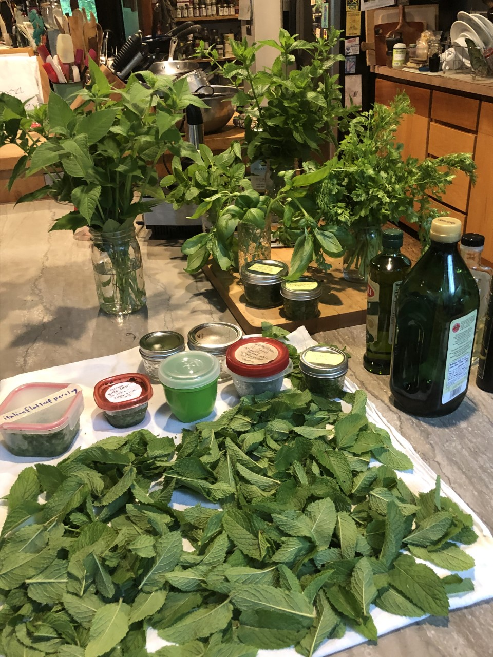 Making herbal pastes is a great way to capture the essence of herbs